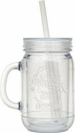 6 NEW Aladdin Classic Clear Insulated Mason Jar Tumblers Mug