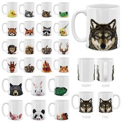MUGBREW 11 OZ Animal Design Ceramic Travel Mug Home Tea Coff