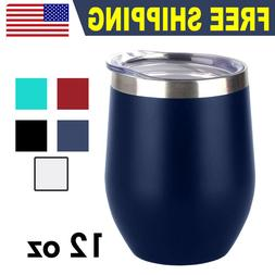 12 OZ Wine Stainless Steel Tumbler Vacuum Double Wall Insula