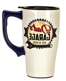 Spoontiques 12758 Dad's Garage Travel Mug, Off-white