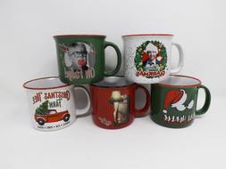 14 Oz. Spoontiques Ceramic Camper Mug Cup - New