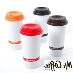 16oz Mr Coffee Double Wall Insulated Travel Mug Coffee Cup W