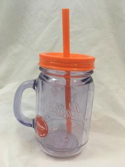 Aladdin 16oz Mason Orange Tumbler Pint Jar Travel Sweat-proo