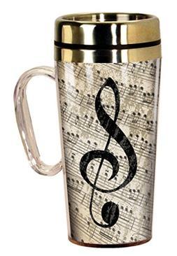 Spoontiques 17242 Music Insulated Travel Mug, Multi