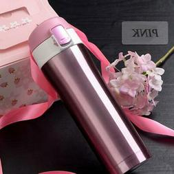 17oz Travel Mug Thermos Coffee Tea Stainless Steel Vacuum Fl