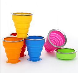 1PC silicone folding cup creative telescopic clean portable