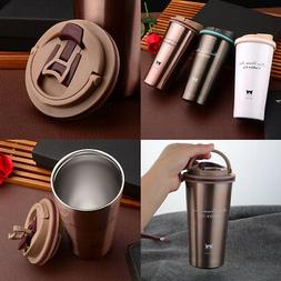 1X 500ML Stainless Steel Insulated Thermal Travel Coffee Mug