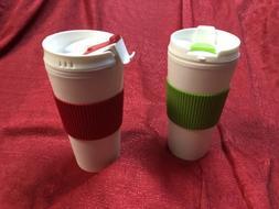 2- Coffee 16oz Thermal Mug Travel Double Wall Reusable Cup R