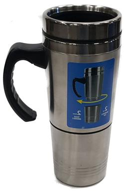 2 in 1 Insulated TRAVEL MUG with Removable Cup STAINLESS STE