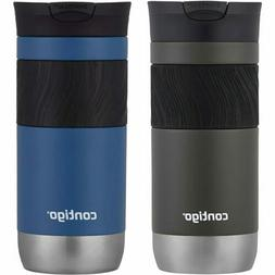 Contigo 2-Pack Snapseal Insulated Travel Mug Bottle, Blue-Co