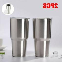 2 Pcs Travel Mug 30oz Stainless Steel Tumbler Double Vacuum