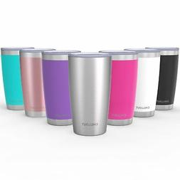 CHILLOUT LIFE 20 oz Stainless Steel Tumbler with New Sliding