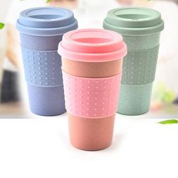 2019 Reusable Bamboo Fibre coffee Cups Eco Friendly Gifts 3