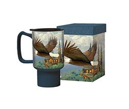 Lang 2127027 Spiritual Eagle Travel Mug by Sam Tim, Assorted