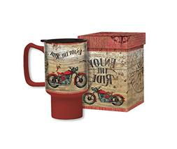 Lang 2127028 Vintage Motorcycle Travel Mug by Tim Coffey, As