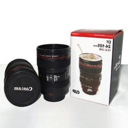 24-105mm Travel Mug Tea Coffee Cup Stainless Steel Camera Le