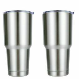 2pcs Travel Mug 30oz Stainless Steel Tumbler Double Vacuum I