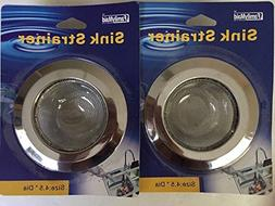 """2ps 4.5"""" Stainless Steel Strainers for Kitchen Sink Drain St"""