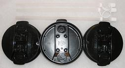 """3-Black Replacement lids and 3-11"""" Flexible Straws for 32 oz"""