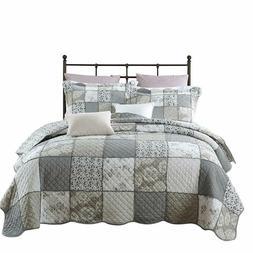 Peryoun 3-Piece Quilt Set Pure Cotton, Patchwork Bedspread S
