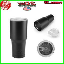 30oz Vacuum Insulated Tumbler Lid Travel Coffee Mug Yeti Ram