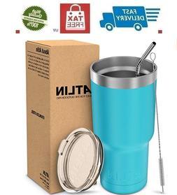 """30oz Vacuum Insulated Tumbler Yeti Rambler Cup Non-Spill Li"