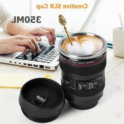 350ML Camera Lens <font><b>Mug</b></font> Portable <font><b>
