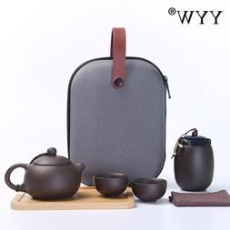 4 Pcs Tea Set With Tea <font><b>Tray</b></font> And <font><b