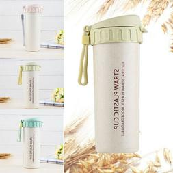 450ML Portable Travel Mug Office Water Thermal Bottle Wheat