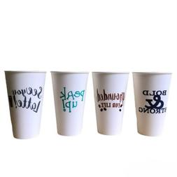 4pk Reusable Travel Coffee Cups With Lids, Dishwasher Microw