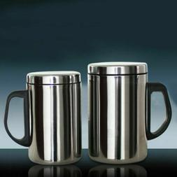 500/350ml Stainless Steel Mug Cup Double Wall Portable Trave