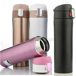 500ML Thermos Coffee Tea Travel Mug Stainless Steel Vacuum F