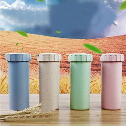 500ml Travel Mug Office Coffee Tea Water Bottle Cup Wheat St