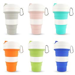 550ML Silicone Collapsible Coffee Cup Reusable Foldable Trav