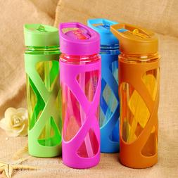 580ml Drinking Bottle Cups Sports Travel Portable Straw Wate