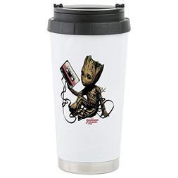 CafePress GOTG Groot Cassette Stainless Steel Travel Mug Sta