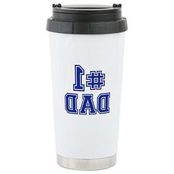 CafePress - No.1 Dad Stainless Steel Travel Mug - Stainless