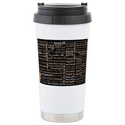 CafePress Shakespeare Insults Stainless Steel Travel Mug Sta