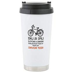 CafePress life is like riding a bicycle, word art, text Trav