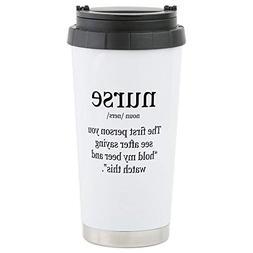 CafePress nurse definition Travel Mug Stainless Steel Travel