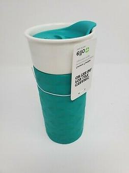 Ello Ogden BPA-Free Ceramic Travel Mug with Lid, 16 oz, Teal