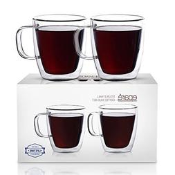 Eparé Insulated Coffee Cups Set  – Double Wall Tumbler Gl