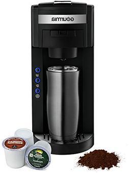 Gourmia GC150 JavaMaster 2 in 1 K-Cup & Ground Coffee Single