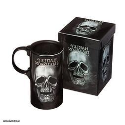 Harley-Davidson Tall Boy Travel Latte Mug, H-D Skull, Gift B