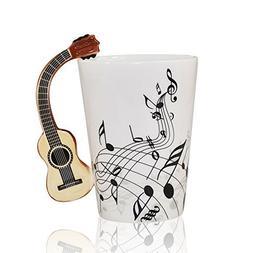 I-MART Musical Notes Design Ceramic Drink Tea Coffee Mug Cup