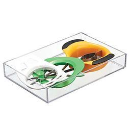 InterDesign Clarity Kitchen Drawer Organizer for Silverware,