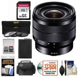 Sony Alpha E-Mount 10-18mm f/4.0 OSS Wide-angle Zoom Lens +