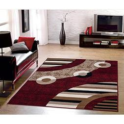 Sweet Home Stores Modern Circles Design Area Rug, 8'2 X 9'10