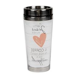 With Jesus and Coffee She Is Unstoppable 16 Ounce Stainless