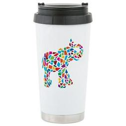 CafePress Abstract Elephant Stainless Steel Travel Mug Stain